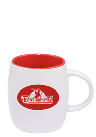 14 oz Vero Mug - Silk White Out/Gloss Red In