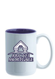 15 oz El Grande Two Tone ceramic mug - purple interior