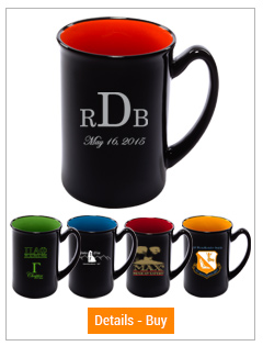 16 oz Marco Black out, Accent colored in, 2-tone mug