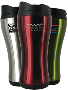 14 oz urbana stainless steel travel mug bpa free