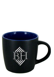 12 oz Effect Two Tone Matte Finish Black Out/Ocean Blue In Mug