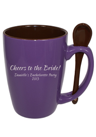 16 oz. Indigo Purple Reading Spoon Mug