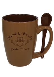 16 oz. Russet Reading Spoon Mug