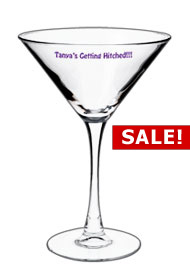 7.25 oz printed martini glass