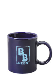 11 oz c-handle mug - cobalt blue
