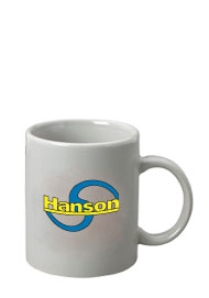 11 oz c-handle mug - light gray