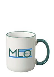 12 oz halo c-handle mug - green