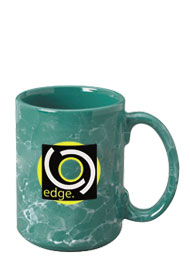 15 oz marbleized el grande ceramic mug - green