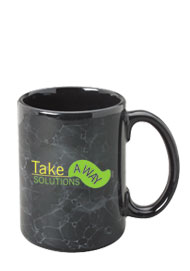15 oz marbleized el grande ceramic mug - black