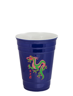 14 oz Waukegan Blue Ceramic Party Cup