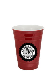 14 oz Waukegan Red Ceramic Party Cup