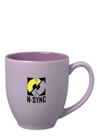 15 oz matte finish bistro mug - purple
