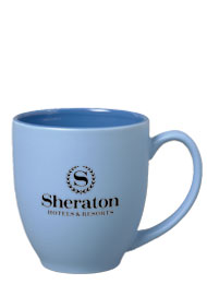 15 oz matte finish bistro mug - blue