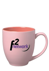 15 oz matte finish bistro mug - pink