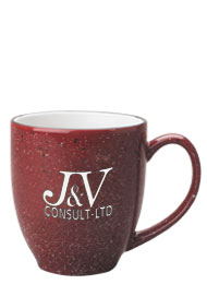 15 oz speckled new mexico bistro mug - burgundy