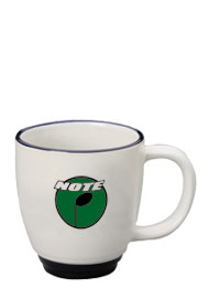 14 oz new orleans mug - white body - cobalt trim