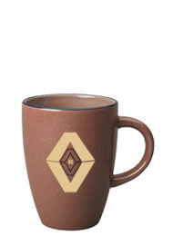 13 oz endeavor speckled ceramic coffee mug - chocolate