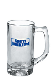 13 oz athlete glass sport mug - basketball