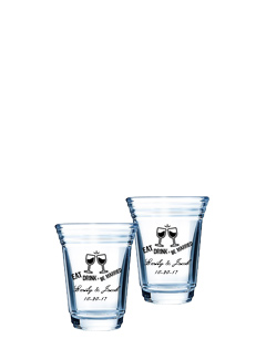2 oz personalized Party shot glass