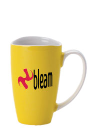 17 oz santa barbara coffee mug - yellow
