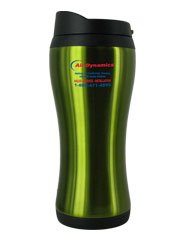 14 oz stainless steel green urbana travel mug
