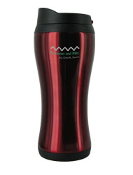 14 oz stainless steel red urbana travel mug