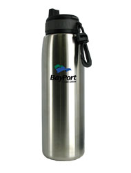 26 oz silver quench stainless steel sports bottle