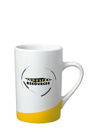 12 oz beaverton coffee mug - yellow