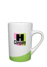 12 oz beaverton coffee mug - lime green
