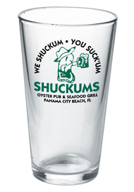 16 oz personalized pint glass (mixing glass)