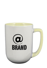17 oz bakersfield coffee mug - cream in & handle
