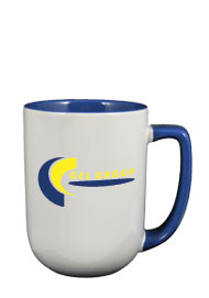 17 oz bakersfield coffee mug - lt blue in & handle