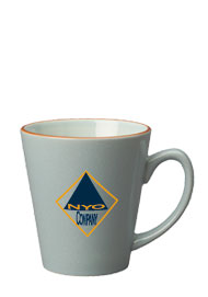 12 oz newport latte mug - slate blue