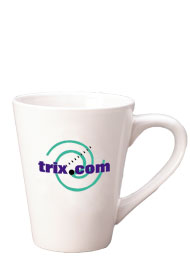 14 oz tulsa latte mug - white