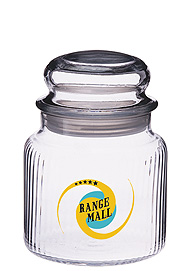 16 oz twirl glass jar w/ dome lid