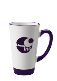 16 oz halo funnel latte mug - cobalt blue
