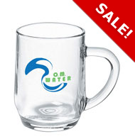 10 oz haworth glass beer mug