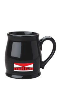 15 oz black country style coffee cup