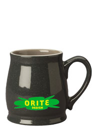 15 oz newport spokane mug - charcoal gray