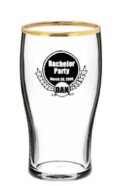 20 oz Libbey printed pub glass