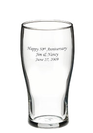 16 oz Libbey promotional beer glass