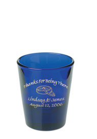 1.5 oz Libbey shot glass - cobalt blue