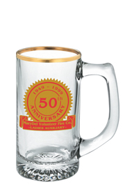 13 oz customized sport glass mug