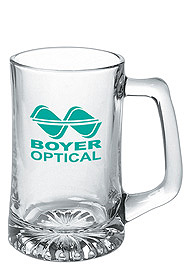 15 oz sport glass beer mug