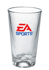 16 oz athlete mixing glass - baseball