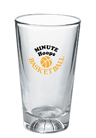 16 oz athlete mixing glass - basketball