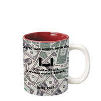 11 oz c-handle mug -  white out burgundy in