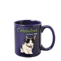 11 oz c-handle mug -  cobalt c-handle