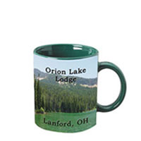 11 oz c-handle mug -  green c-handle