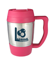 16 oz highlander travel mug - pink